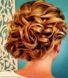 Beautiful wedding curls updo