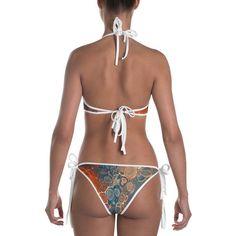 Womens swimwear bikini colourful bikini bright swimwear | Etsy