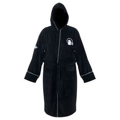 89da4458a4 Doctor Who Time Lord Hooded Black Cotton Bath Robe
