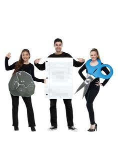 Rock, Paper, Scissors Adult Costume Three Person Halloween Costumes, Trio Costumes, 3 Person Halloween Costumes, 3 People Costumes, Couples Halloween, Hallowen Costume, Halloween Costume Contest, Theme Halloween, Family Halloween Costumes