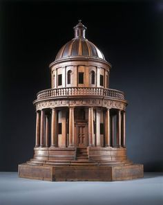 The Tempietto (Architectural model) | V&A  - carved walnut and pearwood, ca. 1830 - ca. 1900, Italy (probably)
