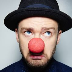 Pin for Later: Stars Share Sweet, Silly Social Media Snaps to Support Red Nose Day Justin Timberlake Red Nose Day, Red Day, Justin Timberlake, Clown Nose, Le Clown, Cant Stop The Feeling, Lgbt News, Star Wars, Inspirational Celebrities