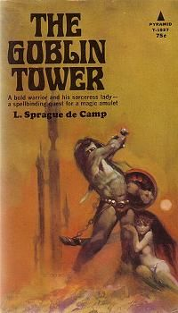 First edition of The Goblin Tower by L. Sprague De Camp, 1968.jpg