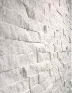 Split Face Natural Stone White Quartz Wall Cladding tiles, Sparkly ,