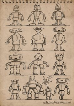 ROBOTZ Concepts by radu-jm by Robot-drawing-club on DeviantArt