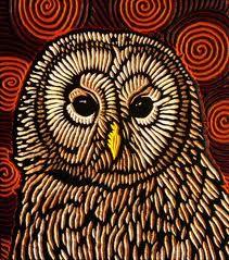woodcut of an owl
