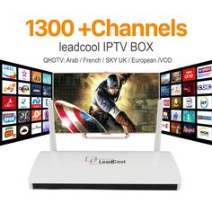 IPTV In Streaming Leadcool TV Box Android Wifi 1G 8G Francese UK Italia Portogallo Canali Ricevitore Europa Arabo IPTV Box Media lettore