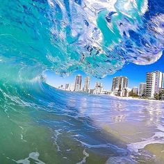 Clear blue ocean  #VisitSurfersParadise. Image thanks to @caseyeveleighphotography by visitsurfersparadise http://ift.tt/1PI0tin