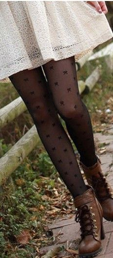 Cute tights and boots