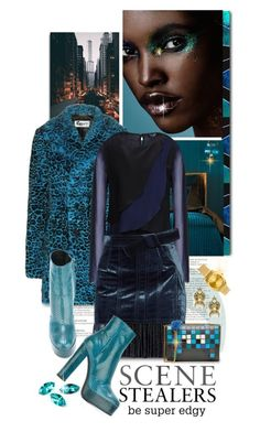"""""""SCENE STEALERS"""" by shortyluv718 ❤ liked on Polyvore featuring Yves Saint Laurent, Armani Jeans, 3.1 Phillip Lim, Roberto Cavalli, Elizabeth Cole, Nixon, Anya Hindmarch, booties, animalprint and graphicprintbag"""