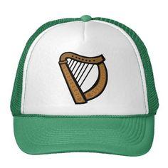 #Irish Celtic Harp #Saint Patricks Day #Cap