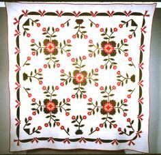 The Quilt Index   Whig Rose variation