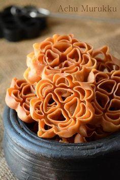 Achu Murukku Recipe without eggs - Achappam Recipe - Eggless Rose Cookies - Diwali Snacks — Spiceindiaonline Easy Indian Recipes, Indian Dessert Recipes, Indian Snacks, Indian Sweets, Indian Appetizers, Asian Recipes, Easy Recipes, Diwali Snacks, Diwali Food