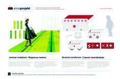 Laminat modułowy i Skrzynia-transformer by Julia Janiuk