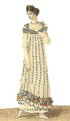 1811 evening gown.  (I really like the embroidery at the bottom!)