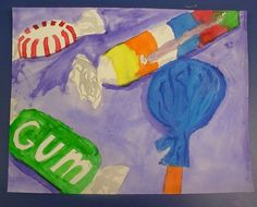 Mrs. Knight's Smartest Artists: Candy still life, Thiebaud style, in watercolor