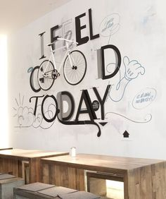 TWO WHEELS GOOD · I feel good today by Niels Buschke in Typography