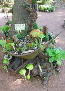 A fairy garden!  Lovely!