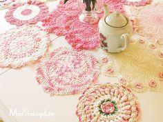 ٠··★⋰⋱★⋰⋱★ Delicadas carpetitas al crochet ★⋰⋱★⋰⋱★··٠