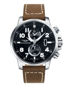 9604774df202 Reloj de hombre Sandoz Adventurer de acero cronógrafo