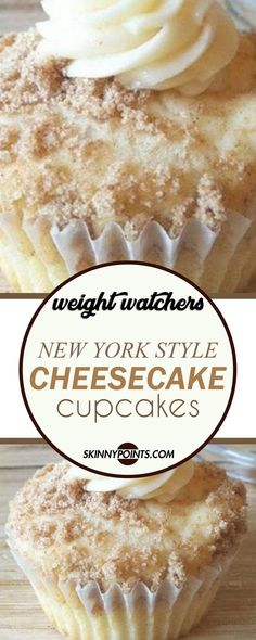 New York Style Cheesecake Cupcakes #weightwatchers #weight_watchers #cheesecake #cupcakes
