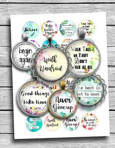 Inspirational Quotes Boho Spirit Round images for Jewelry making Printable Digital Collage Sheet Scrapbooking, Scrapbook Paper, Bottle Cap Crafts, Bottle Caps, Resin Pendant, Glass Pendants, How To Make Keychains, Bottle Cap Images, Boho