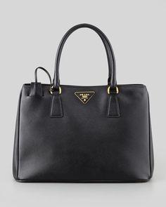 Saffiano Small Gardener\'s Tote Bag, Black by Prada at Neiman Marcus.