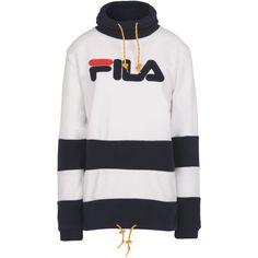 4cb082069fca9 Fila Heritage Sweatshirt (170 BAM) ❤ liked on Polyvore featuring tops,  hoodies, sweatshirts, white, white turtleneck top, long sleeve turtleneck,  ...