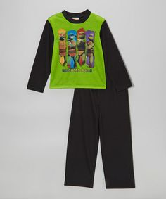 Take a look at this Green TMNT 'Mutants Rule' Pajama Set - Boys by Teenage Mutant Ninja Turtles on #zulily today!