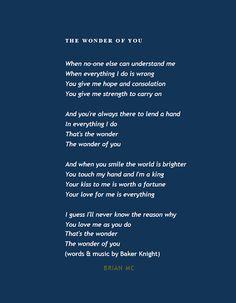 Wonder of You Lyrics, #Elvis Presley #quotes