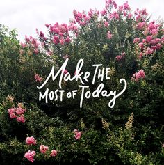 Monday Words: Make the Most of Today