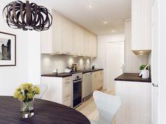 Modernt kök. Modell: Ark, Färg: Nordic Light   NordDesign Kök Ark, Kitchen Cabinets, Table, Furniture, Design, Home Decor, Decoration Home, Room Decor, Cabinets