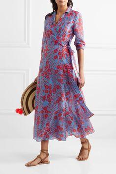 Diane von Furstenberg   Floral-print cotton and silk-blend maxi dress   NET-A-PORTER.COM