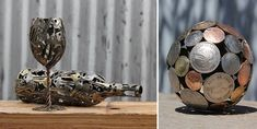 Amazing Sculptures Made from Keys and Coins