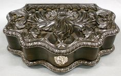 A Ceylonese carved Jewel box of exquisite quality.