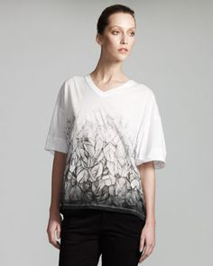 Feather-Print Tee by Stella McCartney at Neiman Marcus.
