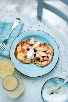 """Het lekkerste recept voor """"Havermoutpannenkoeken met appeltjes"""" vind je bij njam! Ontdek nu meer dan duizenden smakelijke njam!-recepten voor alledaags kookplezier!"""