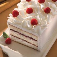 Blanco pastel de chocolate con frambuesa