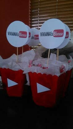 Birthday Party Images, 13th Birthday Parties, 10th Birthday, Niece Birthday, Birthday Ideas, Youtube Theme, Youtube Party, Youtube Birthday, Teepee Party
