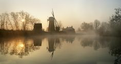 Sun rising, Stalham, Norfolk Broads, David Morris