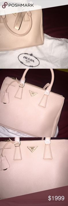 Prada Saffiano Galleria- Medium Purse Brand new guaranteed authentic or 100% money back, comes with authenticity card and dust bag Prada Bags Shoulder Bags
