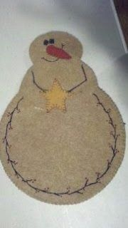 Felted snowman for Christmas time