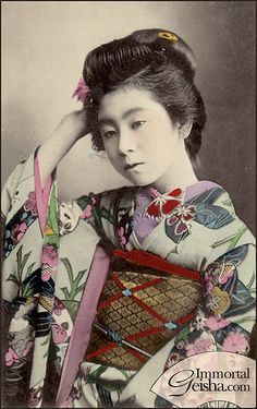 Late Meiji / Early Taisho Hangyoku by Naomi no Kimono Asobi, via Flickr