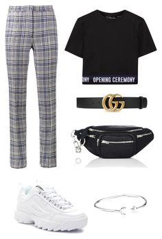 """""""CSL2"""" by zsaraissa ❤ liked on Polyvore featuring Off-White, Opening Ceremony, Gucci, Alexander Wang, Fila and Alex and Ani"""