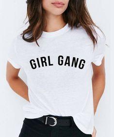 Girl Gang T-shirt Feminist Hipster Grunge Vintage Tee Hipster Grunge, Grunge Style, Hipster Style, Soft Grunge, Grunge Vintage, Vintage T-shirts, Moda Vintage, Vintage Tees, Equality Shirt