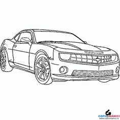 Cars and vehicles coloring - best, car, online, coloring, pages free coloring Truck Coloring Pages, Colouring Pics, Coloring For Kids, Coloring Pages For Kids, Coloring Sheets, Coloring Books, Chevrolet Camaro, Chevy, Car Colors