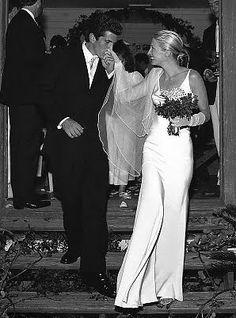 Classic Minimalist Bride... Carolyn Bessette married JFK Jr. on September 21, 1996.