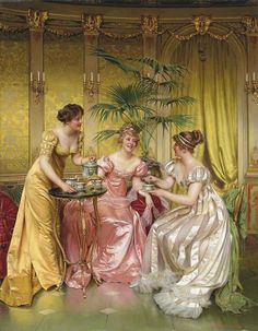 Charles-Joseph-Frédéric Soulacroix (French, 1825-1879) - Afternoon Tea for Three
