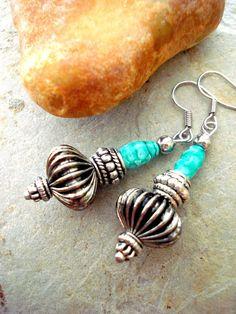 Boho Earrings Boho Jewellery African Earrings by HandcraftedYoga, $25.00