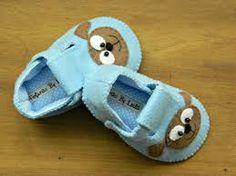 Resultado de imagem para molde sapato bebe menino feltro